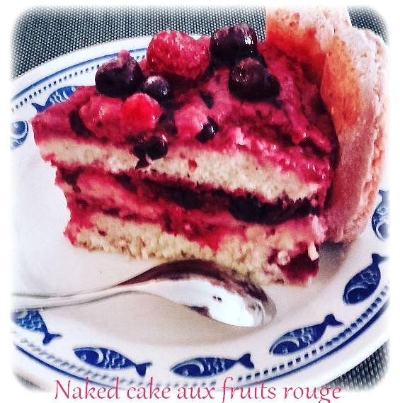naked cake fruits rouge